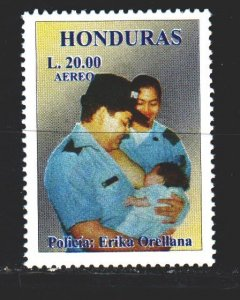 Honduras. 1999. 1459 from the series. Police officer breastfeeding a baby. MNH.
