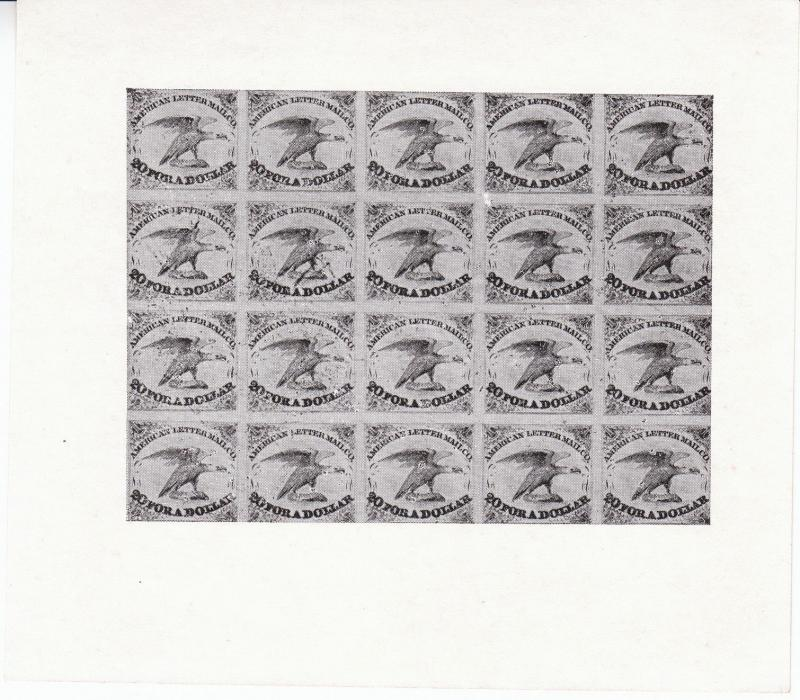 US Stamp Early Classic Facsimile White Great Sheet American Letter ...