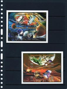 Central African 1997 Conquest of Space 6 Shlt Imp.MNH 1867/0