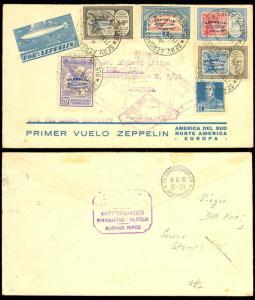 ARGENTINA ZEPPELIN FLIGHT COVER TO AUSTRIA - RARE!