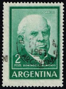 Argentina #742 Domingo Sarmiento; Used (0.25)
