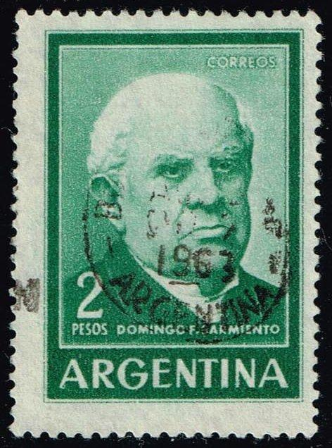 Argentina #742 Domingo Sarmiento; Used (0.25)
