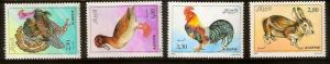 Algeria 1990 farm animals birds fauna set MNH