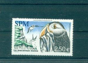 St. Pierre & Miquelon - Sc# C77. 2002 Puffin, Birds. MNH. $8.75