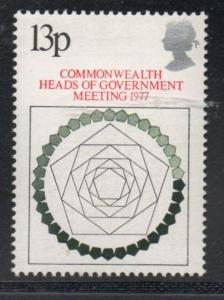 Great Britain Sc 815 1977 Commonwealth Meeting stamp mint NH