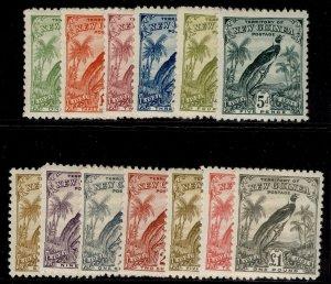 AUSTRALIA - New Guinea GV SG150-162, complete set, LH MINT. Cat £425.
