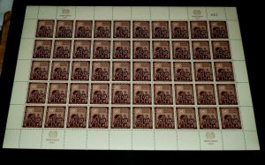 U.N. 1953, NEW YORK #15, REFUGEE ISSUE, MNH, SHEET/50, CONTROL #047, NICE! LQQK!