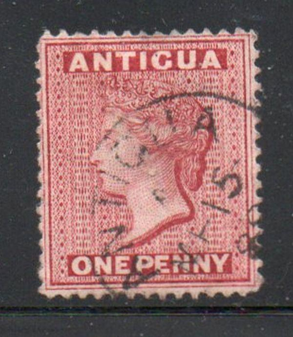 Antigua Sc 18 1884 1d carmine Victoria stamp used