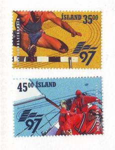 Iceland Sc 842-3 1997 European Games stamp set mint NH