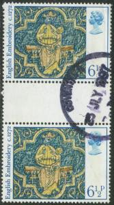 GB - 1976 - Scott # 798 - used - Gutter Pair