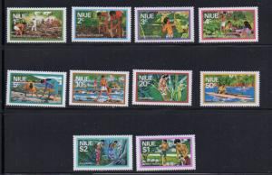 Niue Sc  179-88 1976 long stamp set mint NH