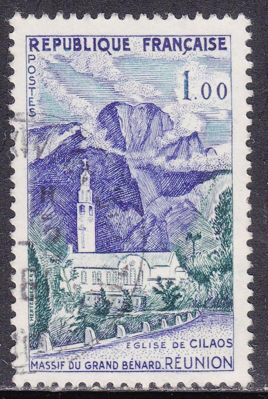France 949 Cilaos Church, Reunion 1Fr 1960