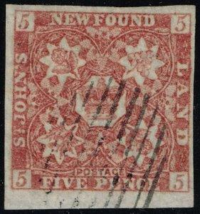 Newfoundland #19 Crown and Heraldic Flowers; Used (3Stars)