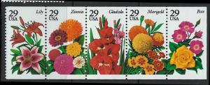 US Scott 2833a MNH! Flowers!! Booklet Pane!