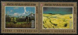 Bosnia, Croat #7 MNH Pair - 1993 Europa Paintings