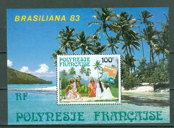 FRENCH POLYNESIA 1983 BRASALIANA #C200a...SOUV. SHEET MNH...$3.50