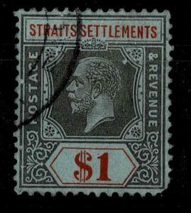 STRAITS SETTLEMENTS 1912-23  $1   KGV  used  SG 210