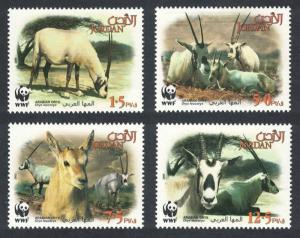 Jordan WWF Arabian Oryx 4v SG#2088-2091 MI#1858-1861 SC#A363
