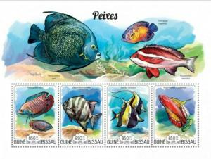 Guinea-Bissau MNH S/S Bold & Beautiful Fish 2015