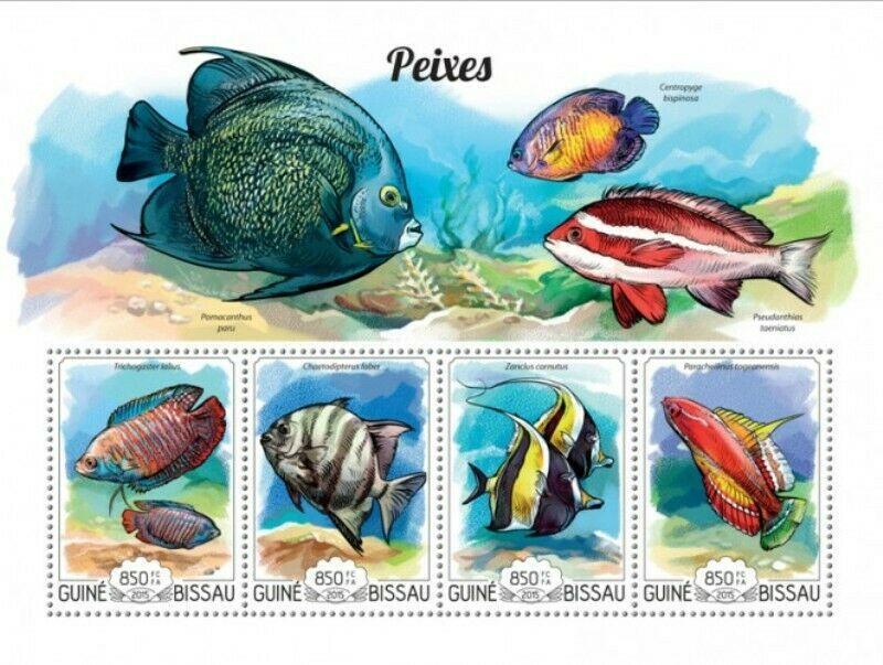 Guinea-Bissau MNH S/S Bold & Beautiful Fish 2015