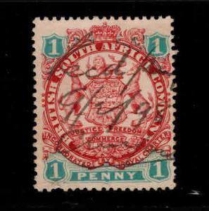 Rhodesia Scott 26 Used coat of arms stamp