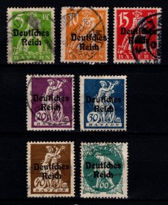 Germany 1920 Stamps of Bavaria Optd. Deutsches Reich Part Set [Used]
