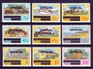 Nevis - Scott #O1//O10 - Short #O7 - MNH - Minor perf toning - SCV $6.15