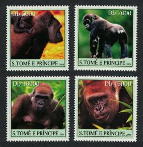 Sao Tome Gorilla Monkeys 4v