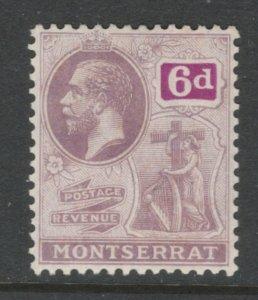 Montserrat 1923 King George V 6p Scott # 68 MH