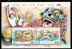 Christmas Island 2004 Year of the Dog M/s