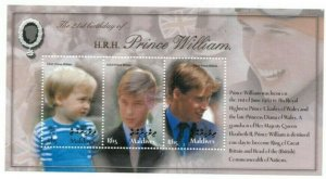 Maldives MNH S/S Prince William's 21st Birthday