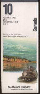 CANADA SGSB171 1993 RIVERS 3rd SERIES BOOKLET MNH