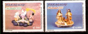 PARAGUAY 2001 ART,RELIGION CHRISTMAS,Mi 4864-5 YV 2843-A-B MNH