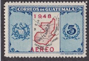 Guatamala # C157, Map of Guatamala Overprinted, NH