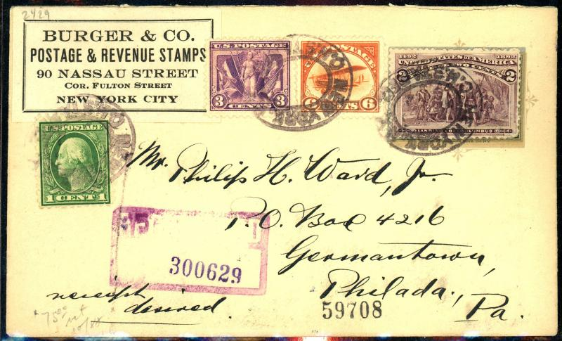 Nice Cover 537, C1 Used F-VF Cat$75