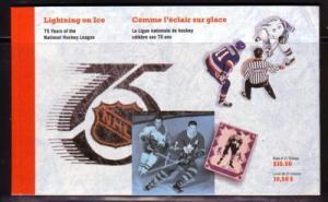 Canada   BK148 1992 N ational Hockey League stamp bklt NH