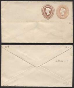ESC25 QV 1d Pink 1 1/2d Brown (31.10.87) Compound Envelope Mint