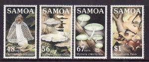 Samoa-Sc#645-9-Unused NH set-Fungi-Mushrooms-1985-please note there is a  spot o