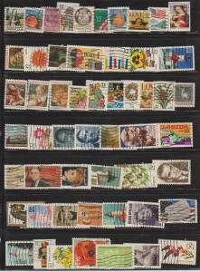 LOT OF DIFFERENT STAMPS OF USA USED (54) LOT#614
