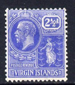 British Virgin Islands 1922-28 KG5 Script CA 2.5d bright ...