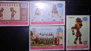 Turkey 1967 Mint nh set #1730-3 tourism year Scott Cv 7.15
