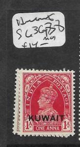 KUWAIT  (PP0802B) ON INDIA   KGVI  SG  36, 38   MOG