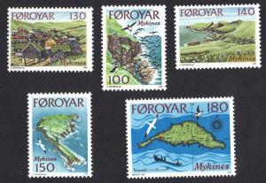 Faroe Islands 1978 MNH Mykines island complete