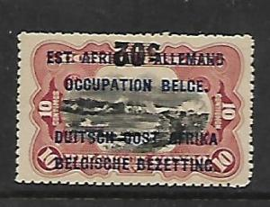 GERMAN EAST AFRICA, N28, MINT HINGED, SURCHARGED IN BLACK OR RED