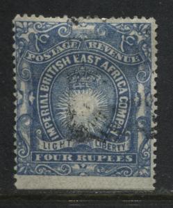 British East Africa 1890 4 rupees used (JD)