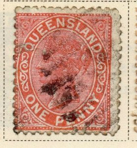 Queensland 1895 Early Issue Fine Used 1d. 326837