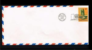 1963 - VN/UNO New York FDC Prepaid cover - Postal stationery - Transport - Ai...