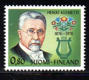 Finland Sc 584 1976 Klemetti stamp NH
