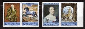 J23111 JLstamps 1987 sweden set mnh #1646-9 paintings