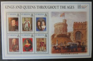 St Helena 2000 kings and queens stamp show exhibition windsor castle royalty